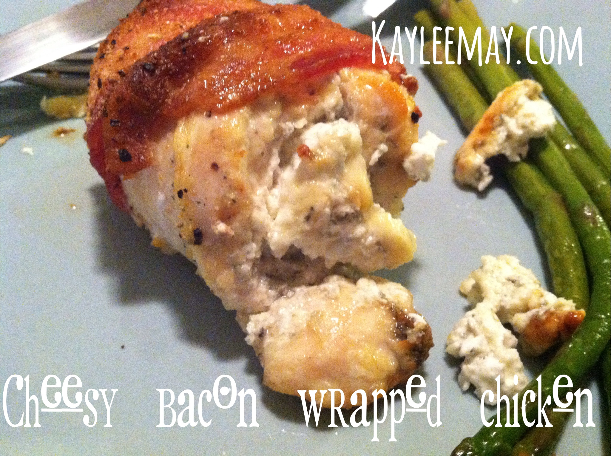 cheesy bacon wrapped chicken
